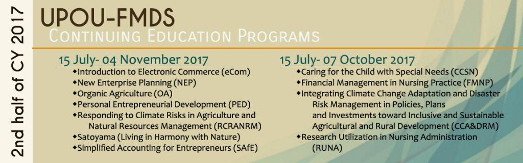 CEP Schedule 2 2017