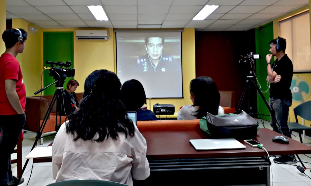 Dr. Jessie Dizon of the Philippine National Police Health Service gives an online lecture about Disaster Risk Reduction and Management in Health