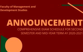 Comprehensive Exam Schedule - 2nd Sem MYT 2020-2021